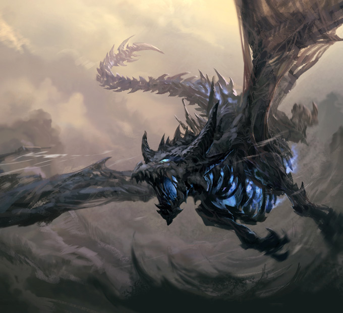 Dragon Concept Art by Graven Tung