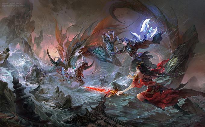 Dragon Concept Art by Guangjian Huang