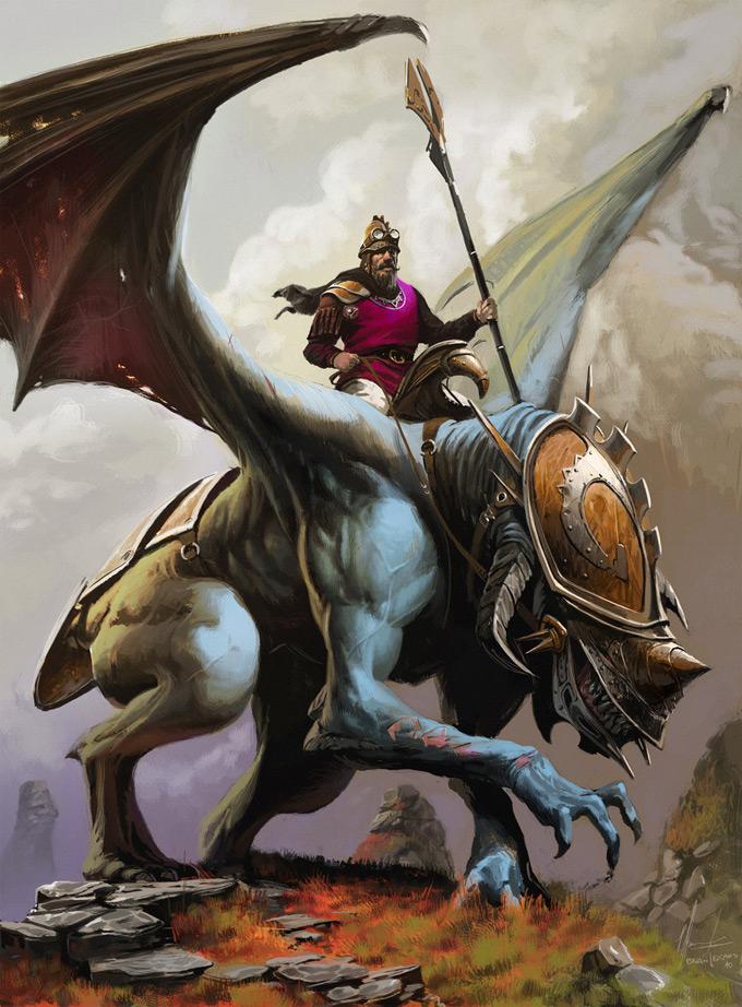 Dragon Concept Art by Ignacio Bazan Lazcano