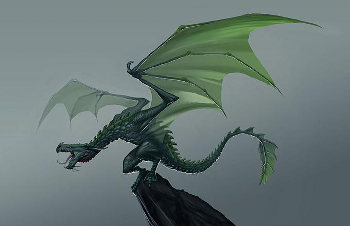 Dragon Concept Art by Jake Parker