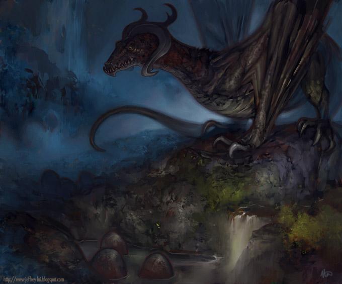 Dragon Concept Art by Jeffrey Lai