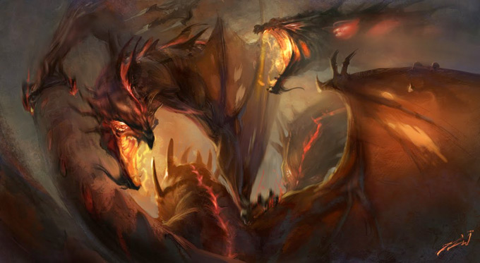 Dragon Concept Art by Jordan Lamarre-Wan