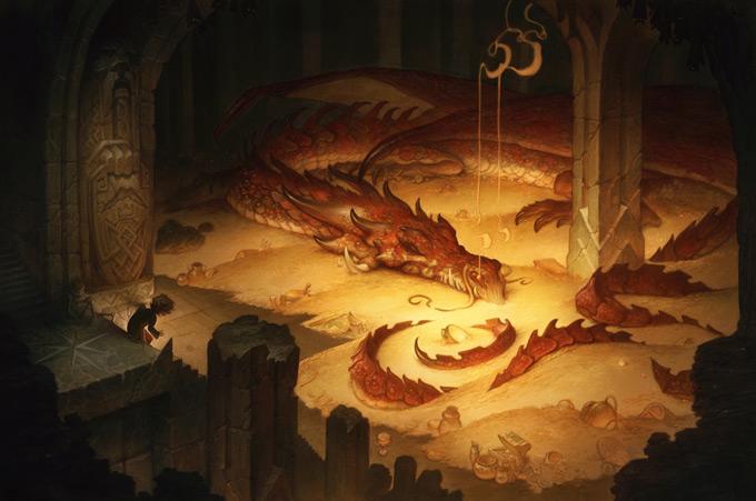 Dragon Concept Art by Justin Gerard