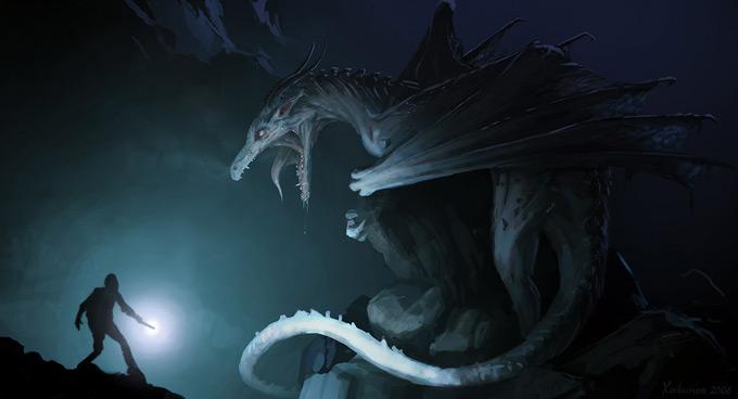 Dragon Concept Art by Karl Simon Gustafsson