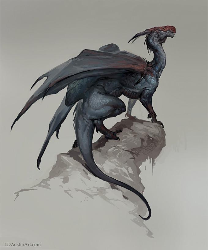 Dragon Concept Art by Laurel Austin