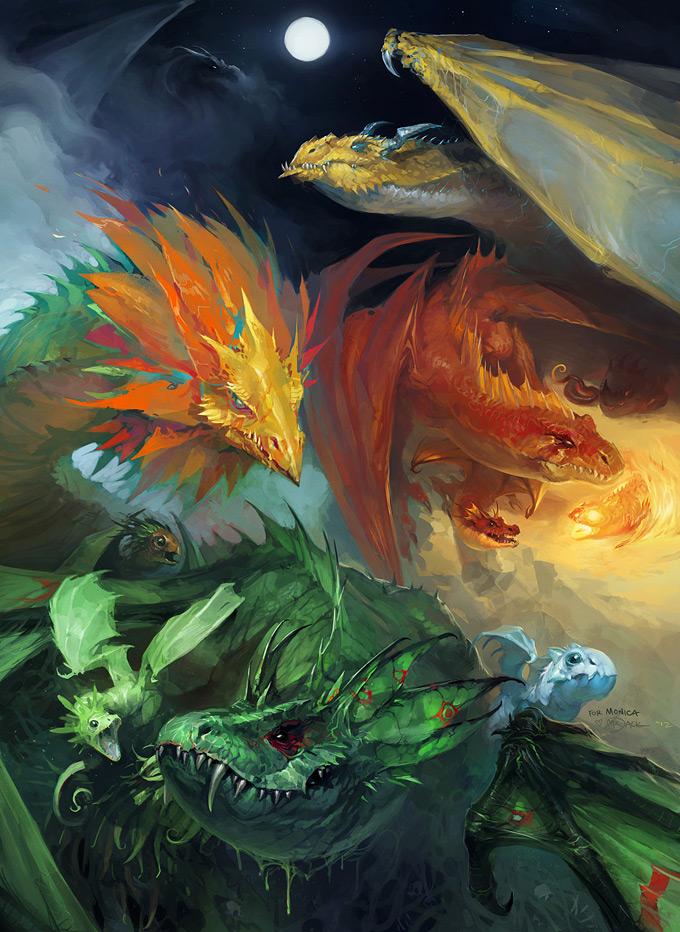 Dragon Concept Art by Luke Mancini