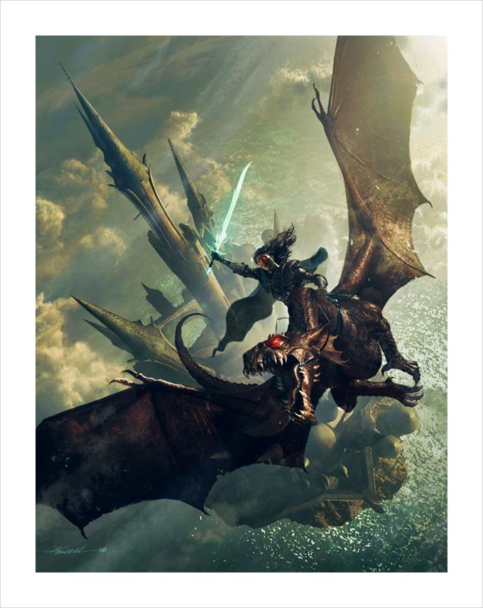 Dragon Concept Art by Michael Komarck