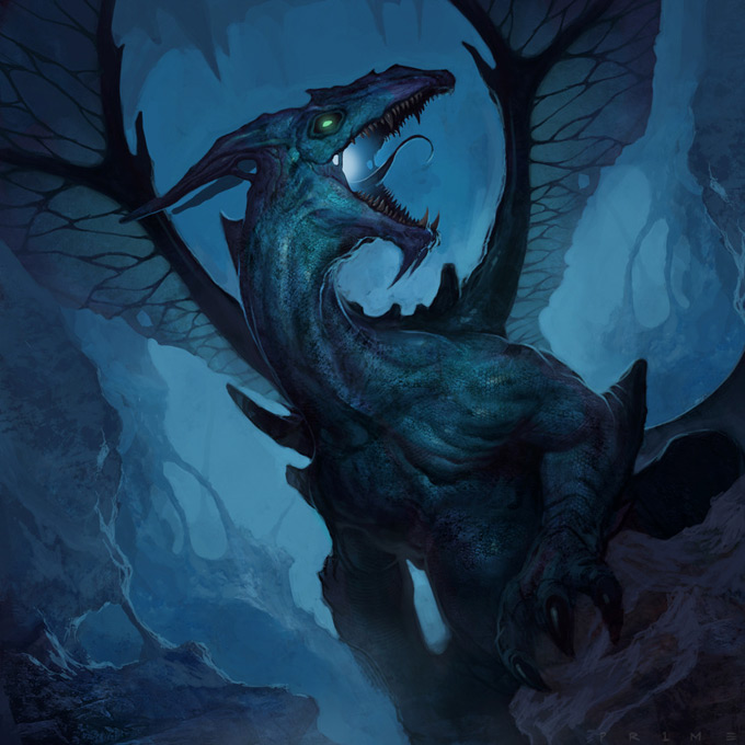 Dragon Concept Art by Michael Pedro