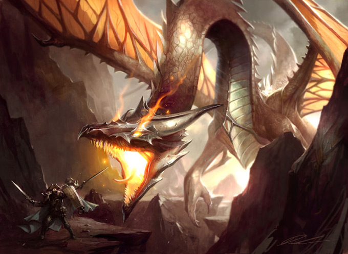 Dragon Concept Art by Mike Lim