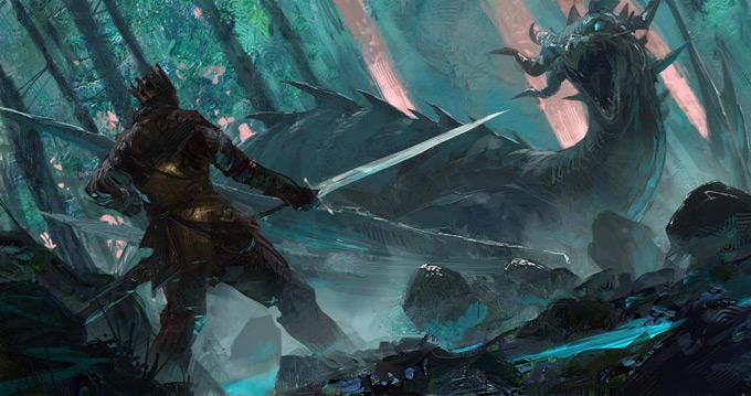 Dragon Concept Art by Neal Hanson