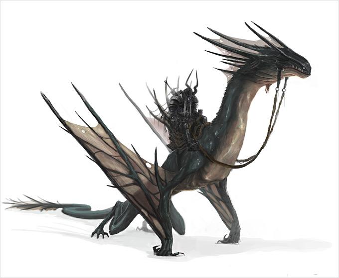 Dragon Concept Art by Roderick Wong