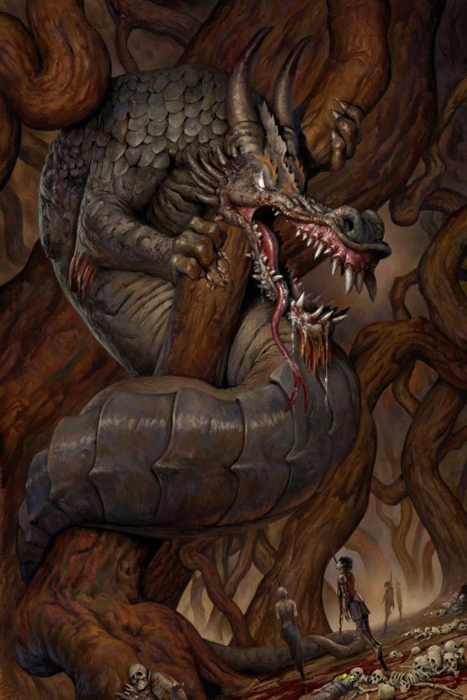 Dragon Concept Art by Simon Dominic
