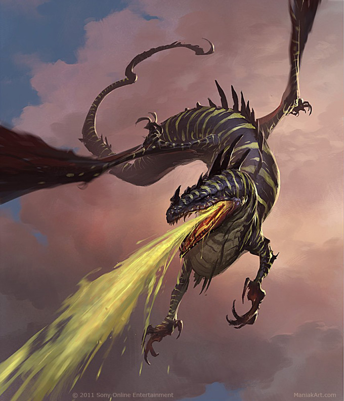 Dragon Concept Art by Slawomir Maniak