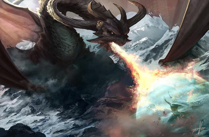 Dragon Concept Art by Viktor Fetsch