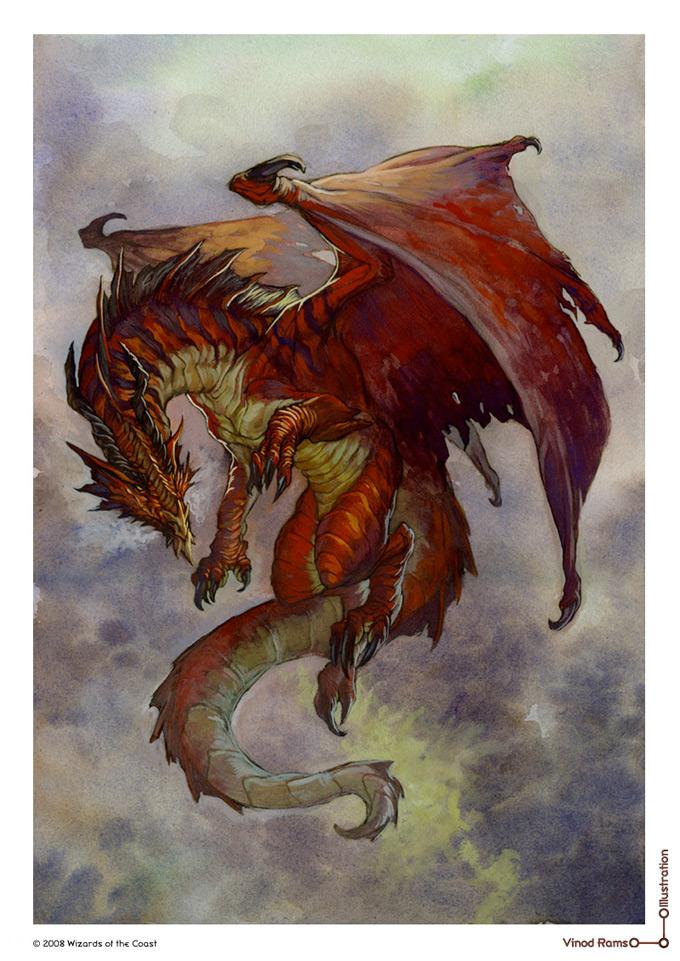 Dragon Concept Art by Vinod Rams