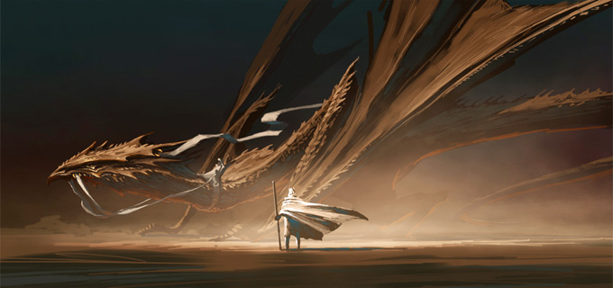 Dragon Concept Art by William Smith