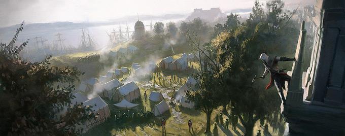 Assassin's Creed III Concept Art by Gilles Beloeil