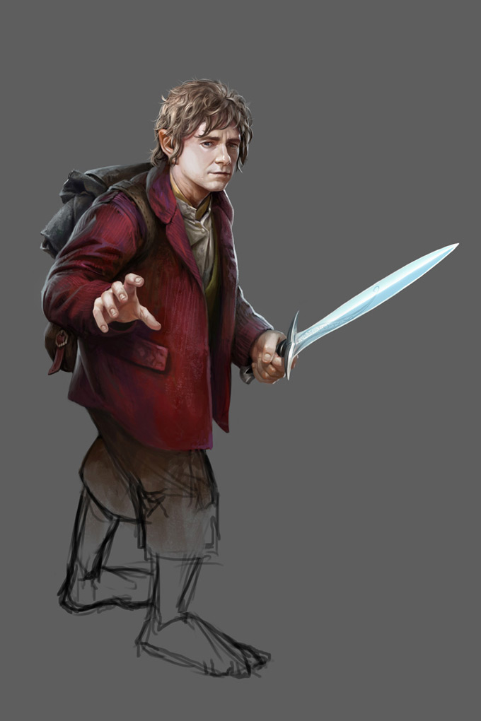 """The Hobbit: Armies of the Third Age Illustrations by Mike """"Daarken"""" Lim Bilbo"""