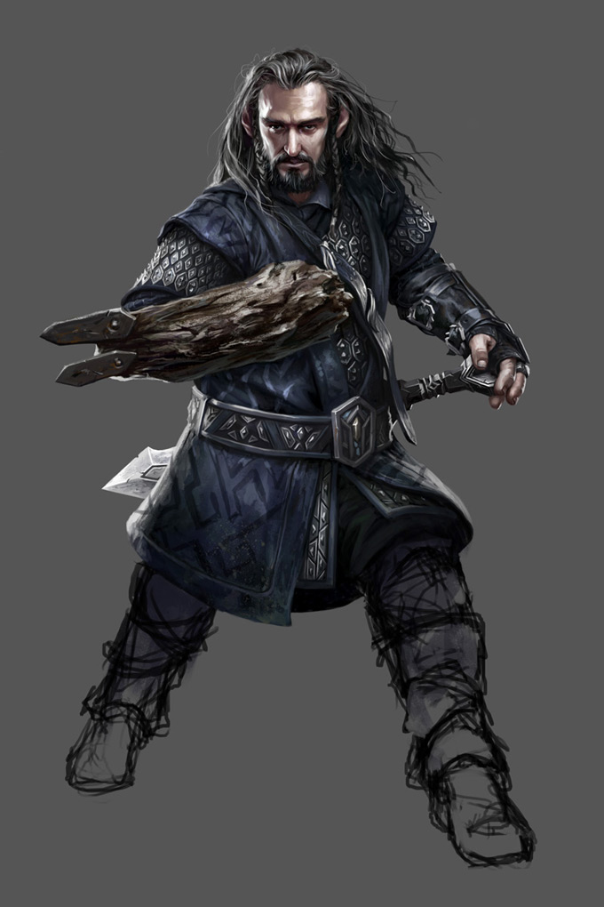 """The Hobbit: Armies of the Third Age Illustrations by Mike """"Daarken"""" Lim"""