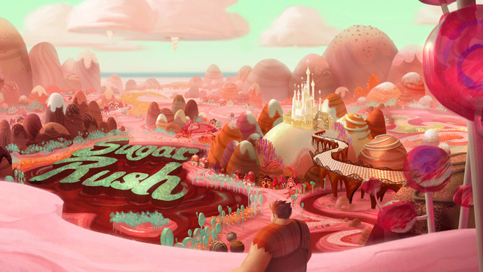 Wreck-It Ralph Conept Art and Illustrations by Walt Disney Animation Studios