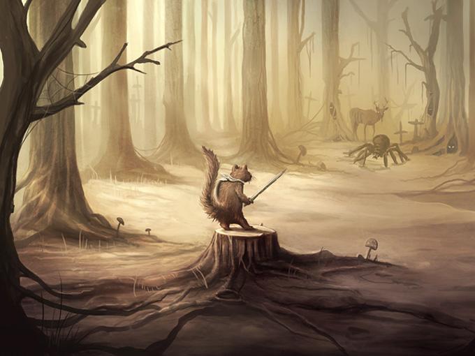 Fallen Forest Concept Art