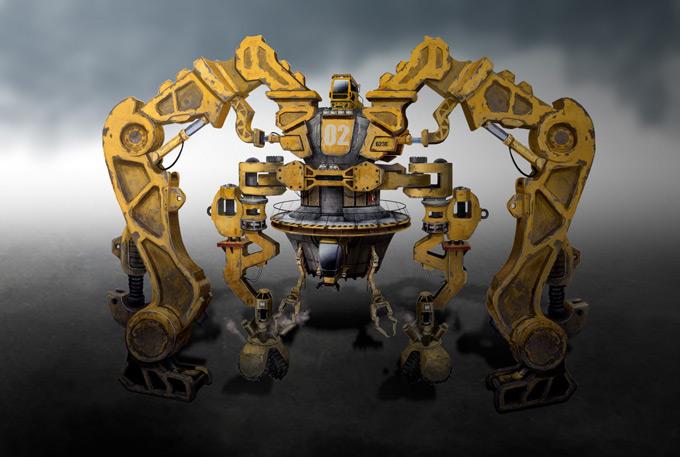 Mech Concept Art by Aaron Lam