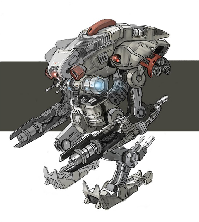 Mech Concept Art by Charles Lee