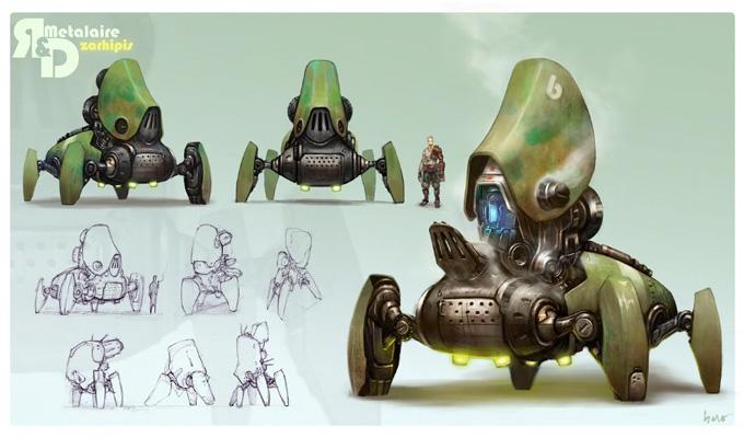 Mech Concept Art by Hao Wu