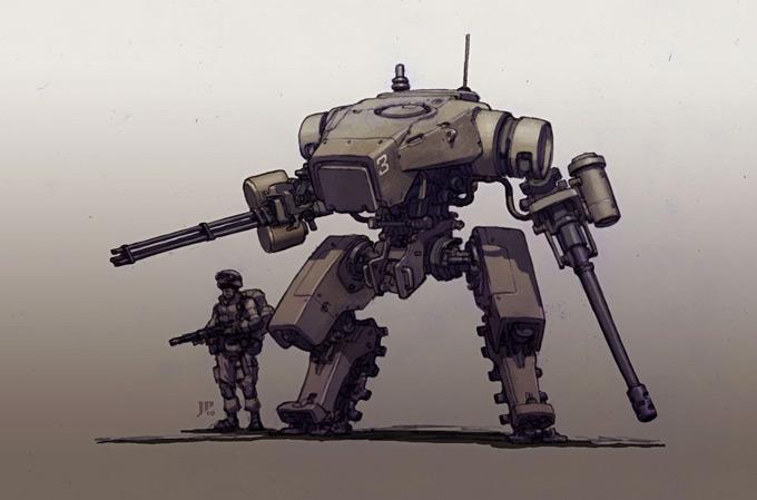 Mech Concept Art by Jake Parker