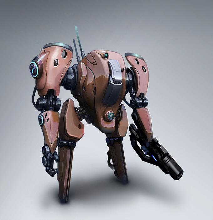 Mech Concept Art by Josh Kao