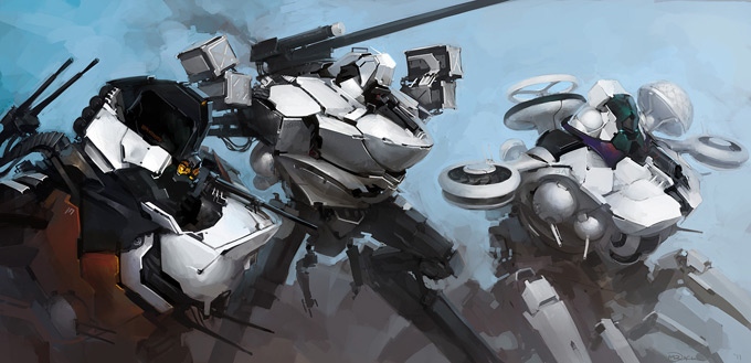 Mech Concept Art by Luke Mancini