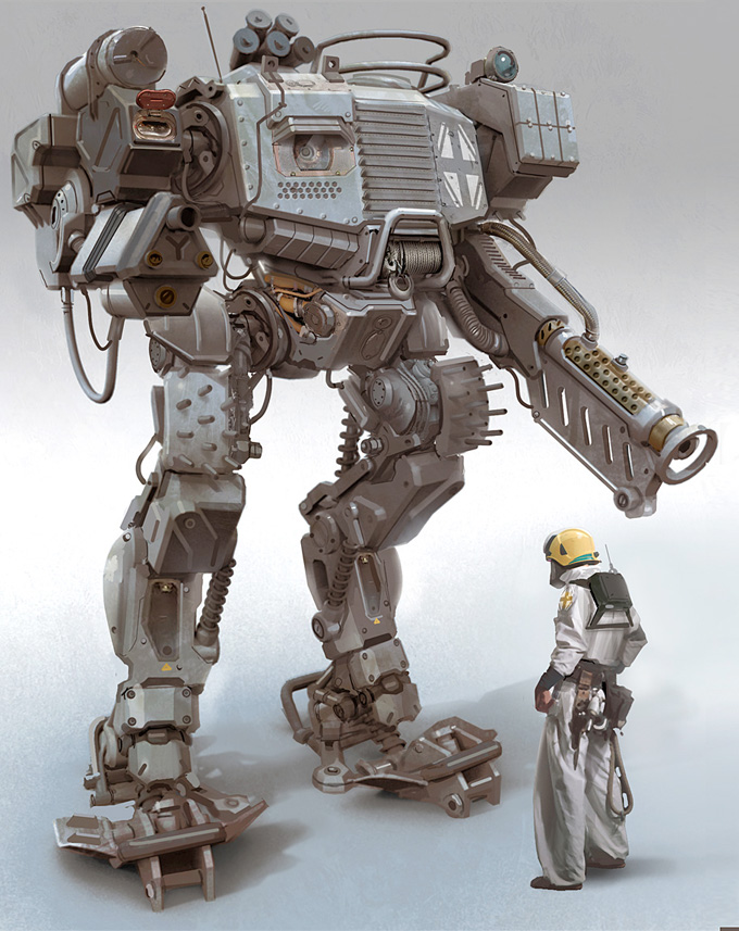 Mech Concept Art by Nick Carver
