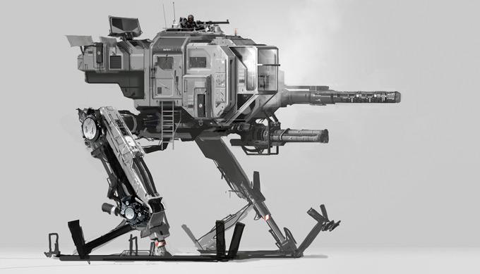 Mech Concept Art by Paul Chadeisson
