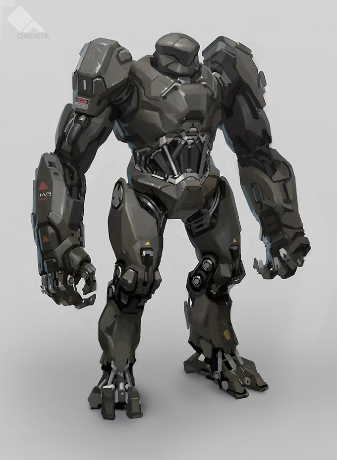 Robot Concept Art by Adam Baines