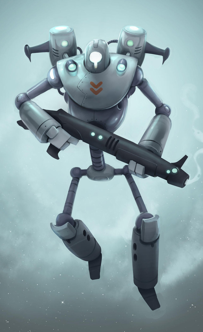Robot Concept Art by Andrew Bosley