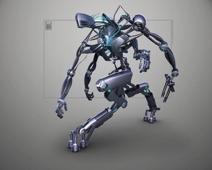 Robot Concept Art by Andrian Luchian
