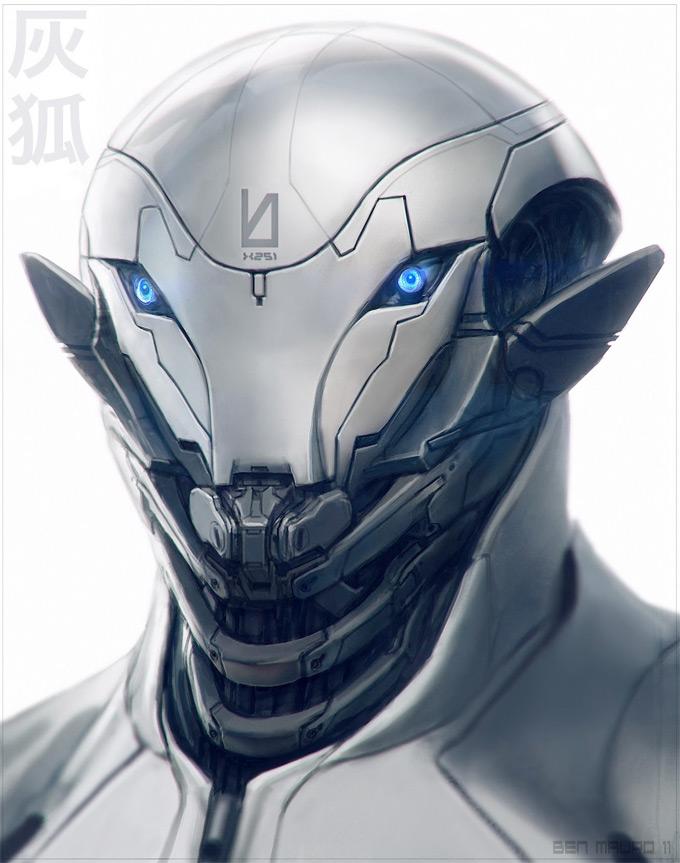 Robot Concept Art by Ben Mauro