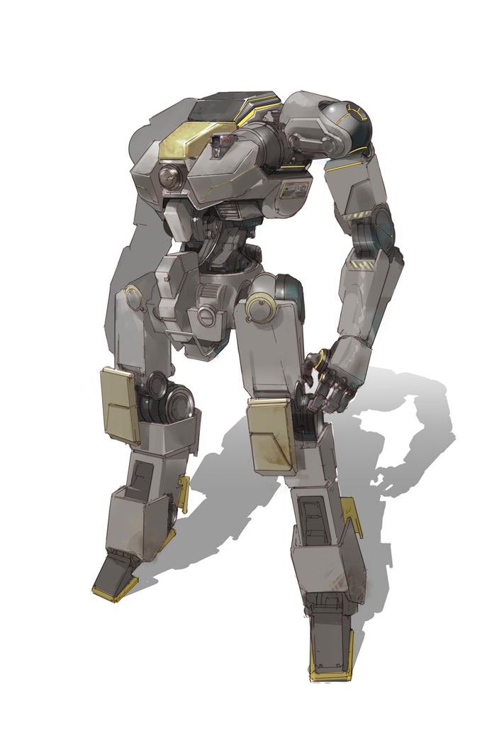 Robot Concept Art by Mio Del Rosario