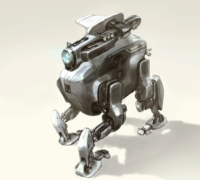 Robot Concept Art by Sean Yoo