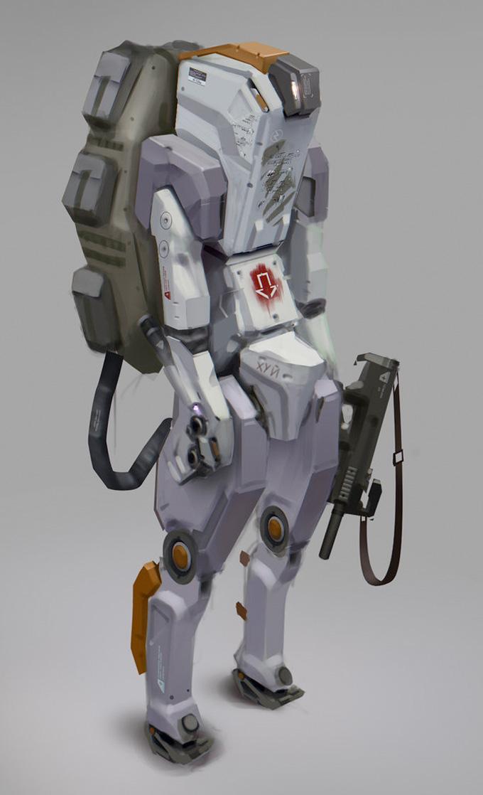 Robot Concept Art by Stanislav Poltavsky