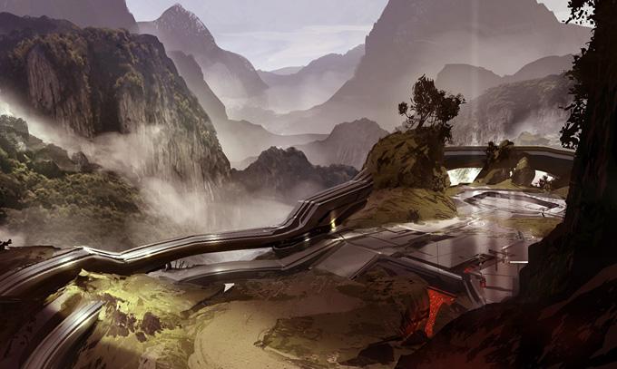 Halo 4 Concept Art by Dave Bolton