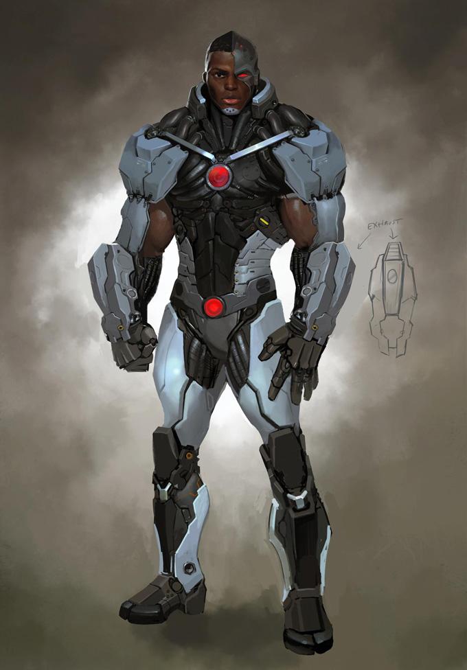 Injustice: Gods Among Us Concept Art Cyborg