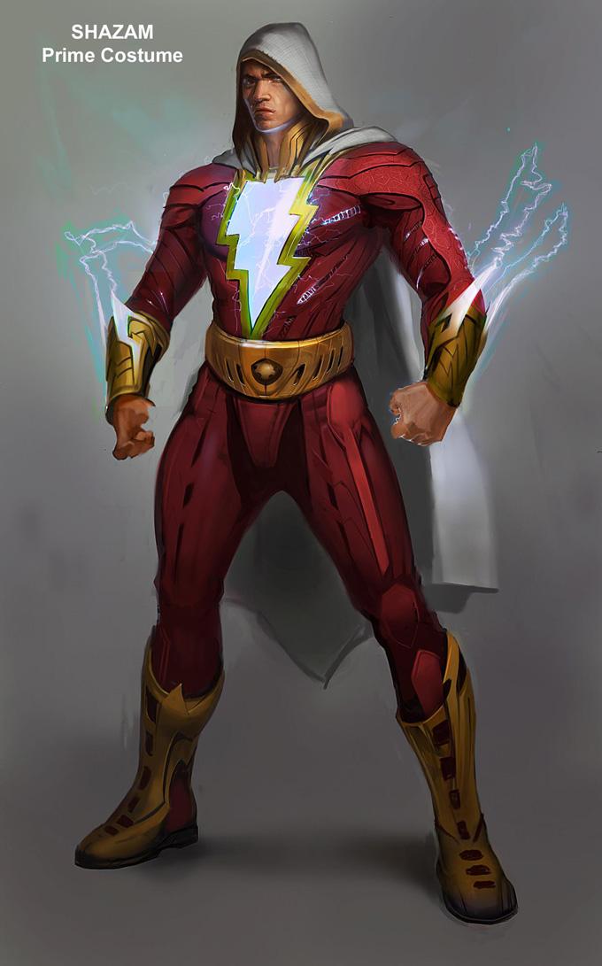 Injustice: Gods Among Us Concept Art Shazam