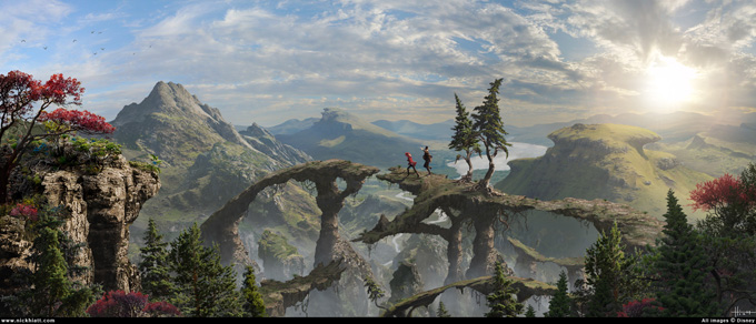 Oz Great Powerful Matte Painting Nicholas Hiatt