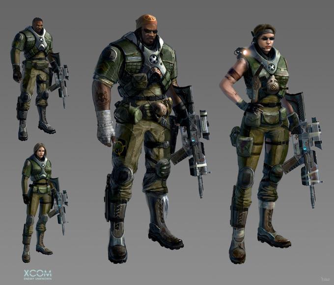 XCOM: Enemy Unknown Character Designs by Piero Macgowan