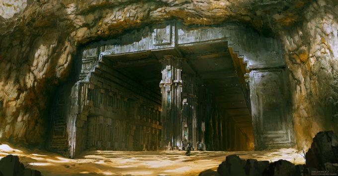 raphael lubke concept art enviroment desert dungeon entrance