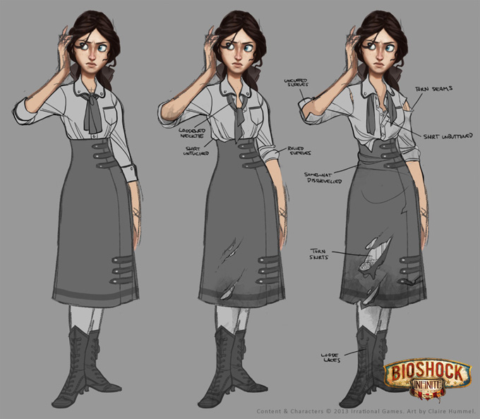 Bioshock: Infinite Concept Art by Claire Hummel