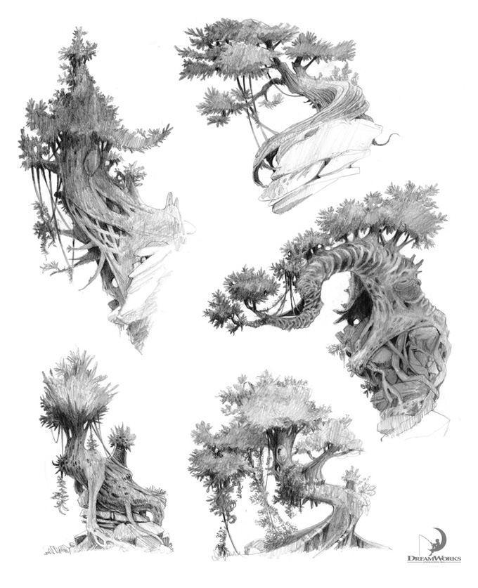The Croods Concept Art by Nicolas Weis