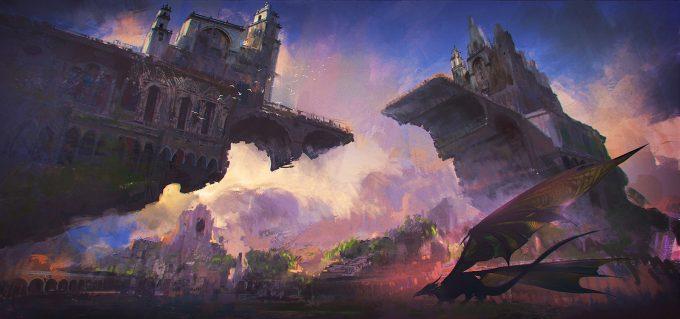donglu yu concept art fantasy castle lowres