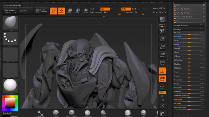 Creating a Sci-Fi Robot Warrior in ZBrush with Justin Fields